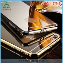 Mirror gold plated housing for iPhone 6 case Aluminum bumper cover For iPhone 6 Plus