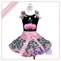 calidad superior de bebé de lujo las niñas falda mini diseño precioso colorido floral suave y esponjosa de gasa vestido de ballet