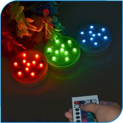 2015 Wedding Decoration Battery Operated Color Changing Remote Controlled Led Submersible Lights