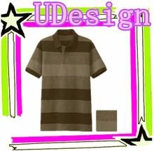Men striped polo shirt cotton fabrics for polo shirt