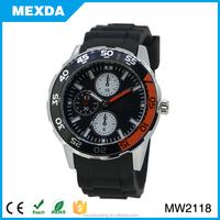 lastest silicone watch band quartz waterproof watch for men