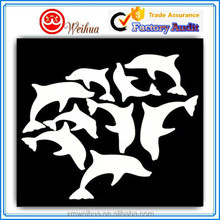 Cute designed white fluorescent cartoon dolphin sticker for kids