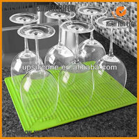 silicone kitchen dish drying mat silicone wine glass drying mat