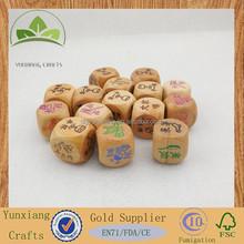 wooden fun dice wooden blank dice wooden black dot dice