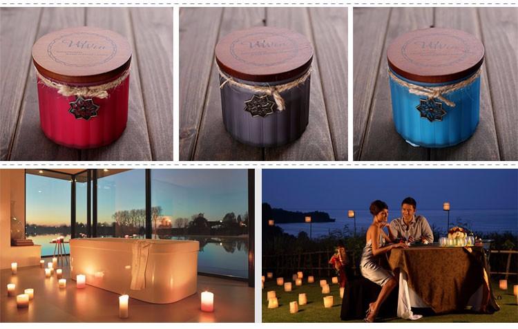 toute vente pas cher cire de soja ou paraffine cire couvercle en bois parfum pot bougie pour la. Black Bedroom Furniture Sets. Home Design Ideas
