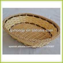 De bambú baratos& rota bandeja de cestas
