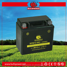 Popular 12V 4ah china dry cell motorcycle battery