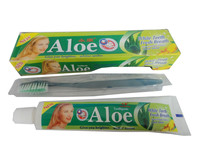 105g Aloe white teeth& fresh breath& Natural herbage Essence &cool mint toothpaste