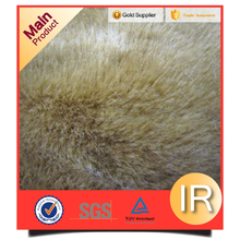 "Light Brown Shag Shaggy Faux Fur Fabric 60"" Wide High Quality"