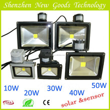 TOP products CE EMC ROHS tourist attractions with sensor led flood light 5w-100w