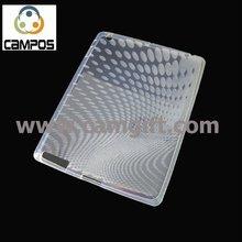 for iPad 2 White crystal TPU case
