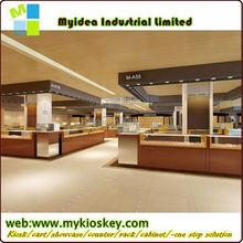shopping mall floor display wood jewelry display kiosk
