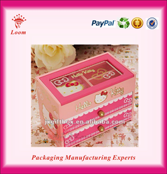 Hello Kitty wood makeup jewelry box for gift