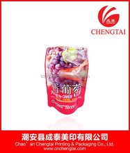 Snack food pouch vacuum seal plastic bags