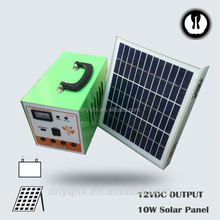 DC energy portable emergency controller pwm 10a for house use with mobile charger with battery