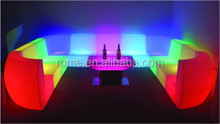 Color Change Outdoor waterproof plastic Led Nightclub Sofa