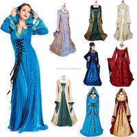 2015 Walsonstyles Renaissance Medieval Game Costume lady Cosplay party Dress Gown