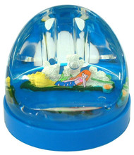 Acrylic Heart Shape Liquid Snow Globe, Water Ball, Acrylic Pen Holder