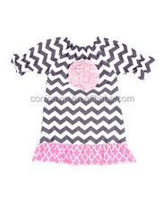 new design 1-7 years old birthday cotton knit baby girl summer dress middle sleeve summer dress for girls of 3 years old