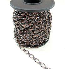 Fashion High Quality Metal Antique Copper Hammered Curb Chain