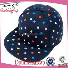 Promotonal Wholesale Kid Baseball Cap Flat Bill Child Snapback Cap Printing Design Kid Cap