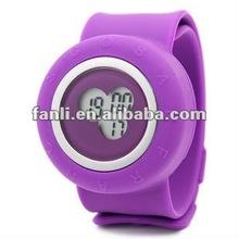 digital silicone slap watch