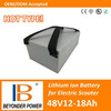 Factory direct sale, high quality electric scooter battery, 48V12 to 18Ah battery pack with samsung 18650