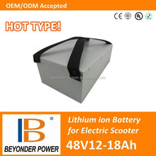 Factory direct sale, high quality electric scooter battery pack, 48V12 to 18Ah battery pack with samsung 18650