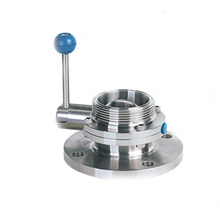 Sanitary manual butterfly (sing flange single thread)