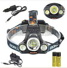 6000LM 3x XM-L T6 LED 18650 Headlamp Headlight Head Torch Light Lamp 3 Mode