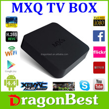 quad core hd media player download free sexy movie amlogic s805 android smart tv box mxq s805 with newest xbmc pre-installed