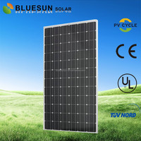 BlueSun chinese factory supply home industrial use mono crystalline silicon suntech 300w solar panel sunpowe
