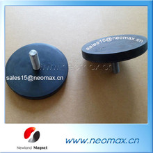 Wholesale rubber coated pot magnets