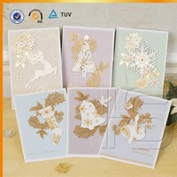 Wholesale happy new year decoration christmas handmade greeting card
