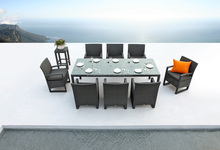 Miami outdoor rattan garden furniture dining table set