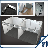 3x6 special designed canton fair tradeshow shell scheme/ exhibition booth with lights and strengthening beams