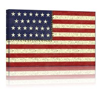New Design POP USA Flag Canvas Wall Posters Stretched and Framed Ready to hang