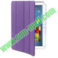 Fashionable with good quality 4-Fold leather case for samsung galaxy tab 2 10.1 p5100 p5110 with Wake-up Function