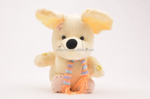 High quality voice control plush moving music yellow little mouse