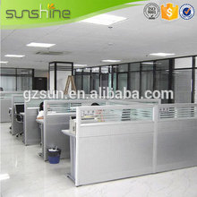 2015 New Model Office Workstation Aluminum Soundproof Partition Customized Acrylic Office Partitions