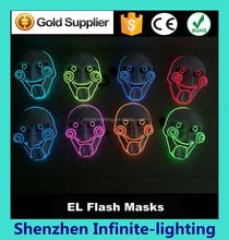 Custom plastic led party led flashing eyes mask/Party Masks With Lights / EL Wire Lighting Party Mask