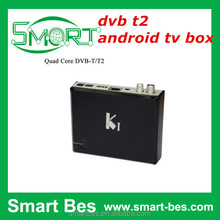 Smart Bes Quad-core android STB DVB t2 android TV box k1 Amlogic S805 TV Receiver