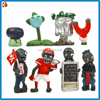 cheaper plants and zombies pvc figure for promotion/hotsale pvc figure/plants vs zombie action figure