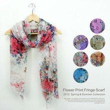 flower print scarves for fall 2012
