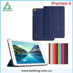 Leather Wallet High Quality Book Folder Design Case For iPad Mini 4 Standing PU Covers