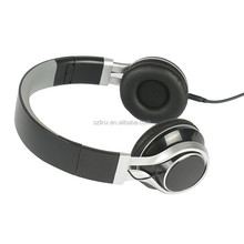 black Headphones with the self-adjusting wing for skype from shenzhen city
