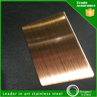 cold rolled colored hairline finish stainless steel sheet