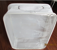 PVC clear plastic bags, cotton tote bag ,clear vinyl pvc zipper blanket bags