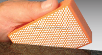 electroplated and resin bond diamond hand pad for stone grinding and polishing