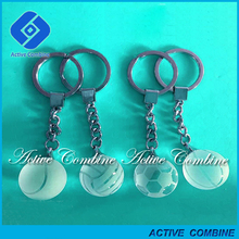 sport souvenirs gifts football basket ball and volleyball engraving crystal cheap key chains